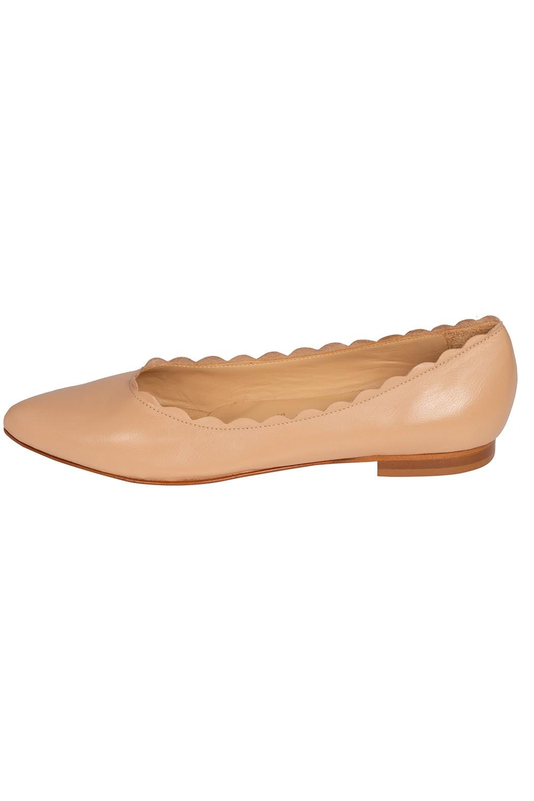 Pascucci Leather Nude Ballet-Flats - Main Image