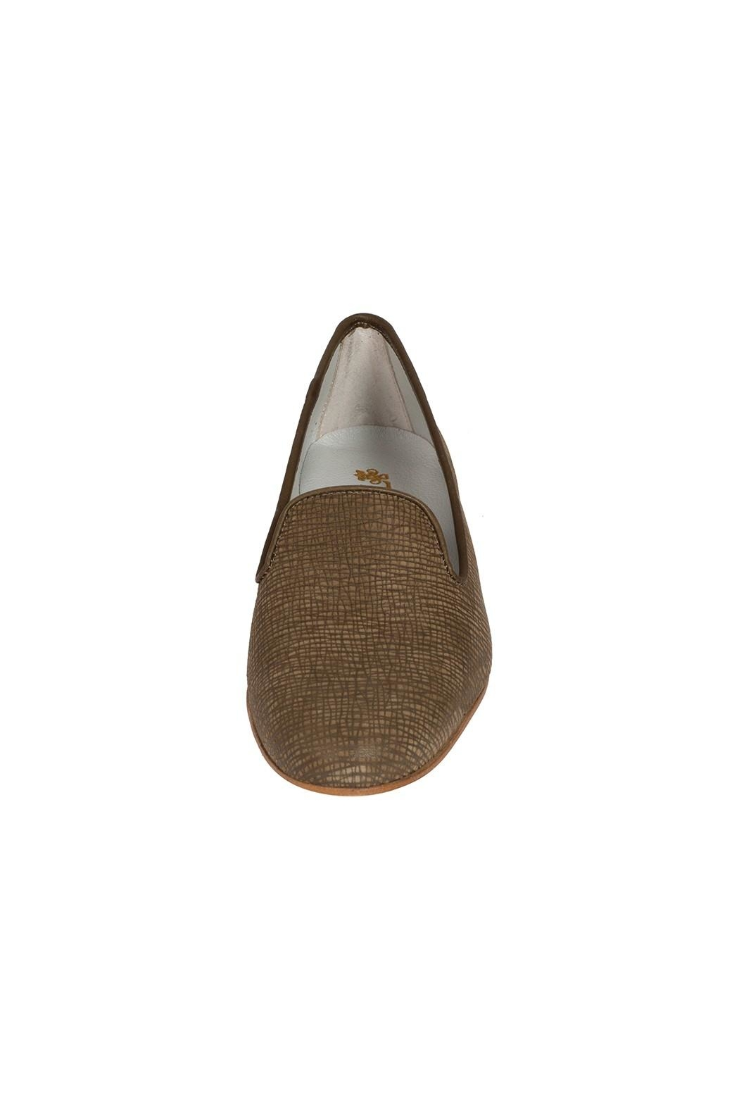 Pascucci Leather Olive-Green Smoking-Slipper - Side Cropped Image