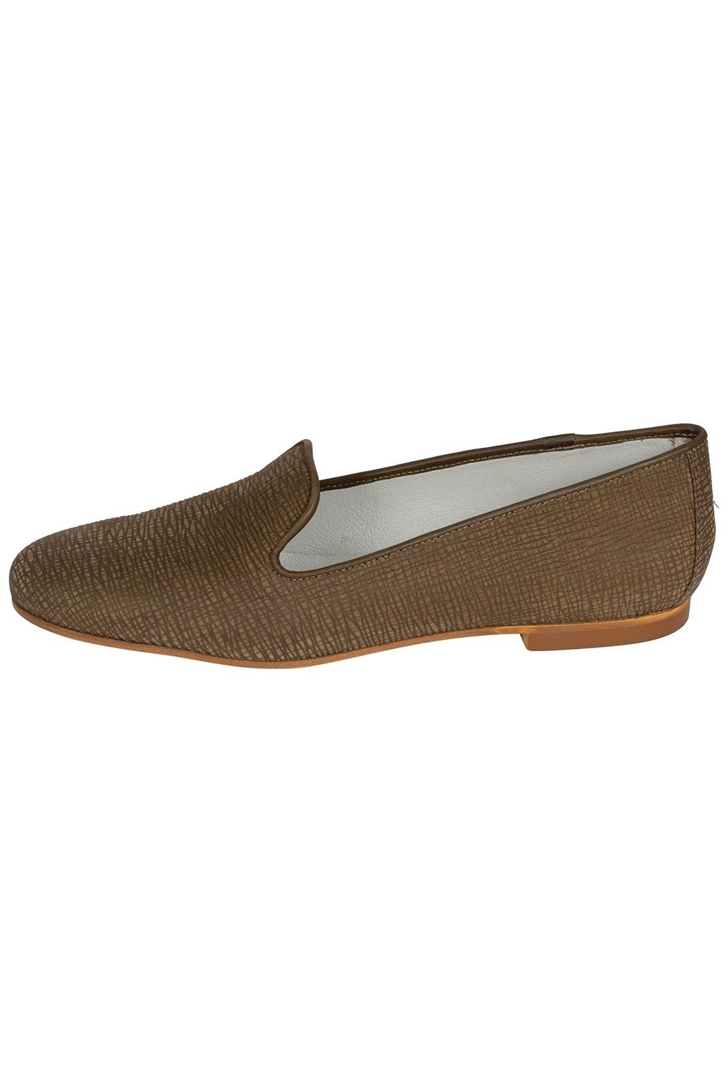 Pascucci Leather Olive-Green Smoking-Slipper - Main Image