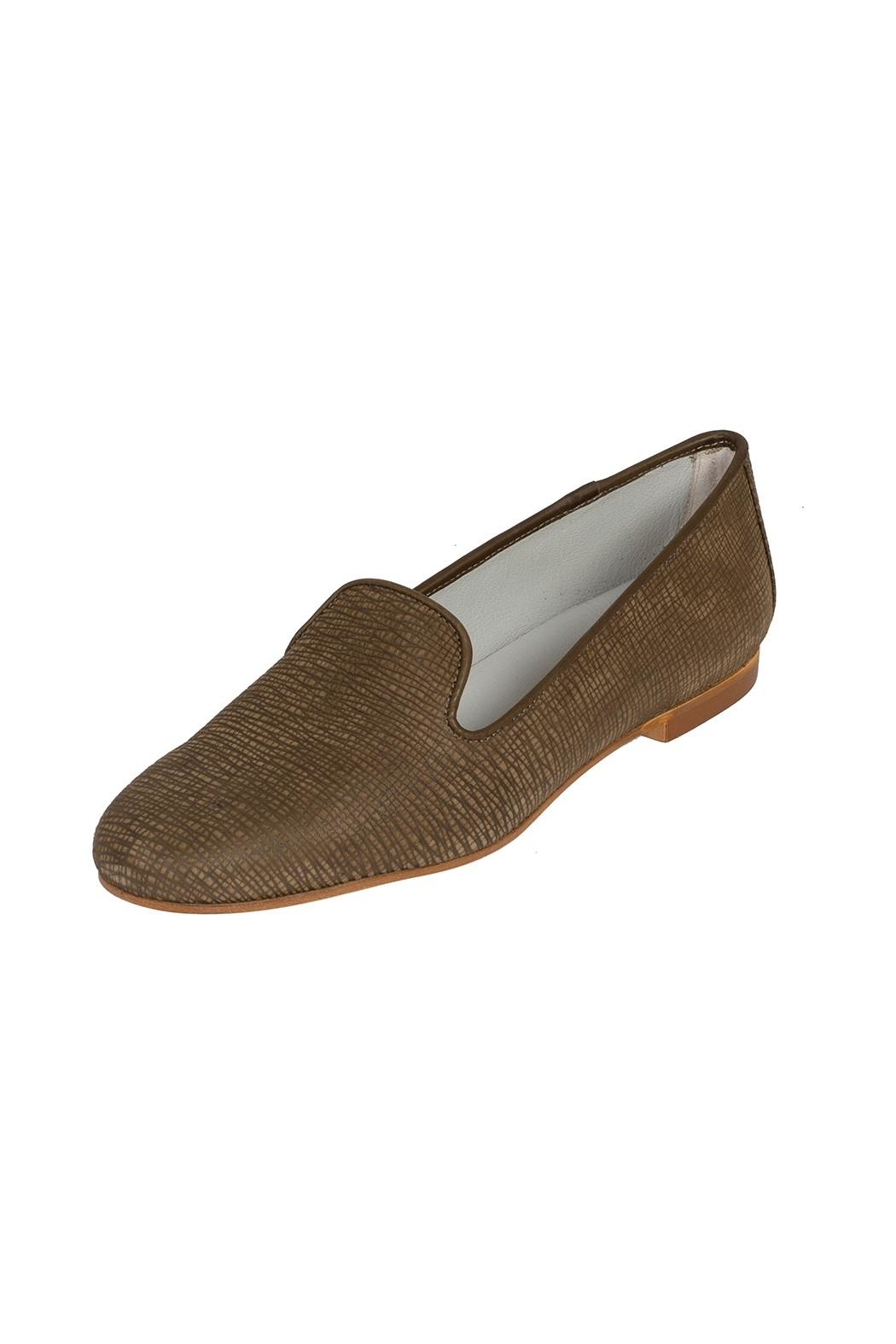 Pascucci Leather Olive-Green Smoking-Slipper - Front Full Image