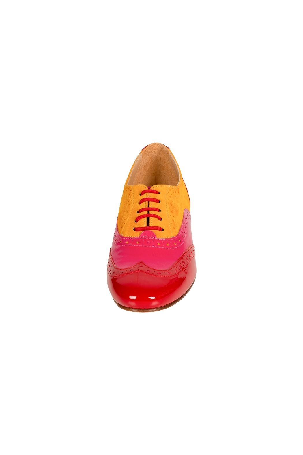 Pascucci Leather Suede Brogue - Side Cropped Image