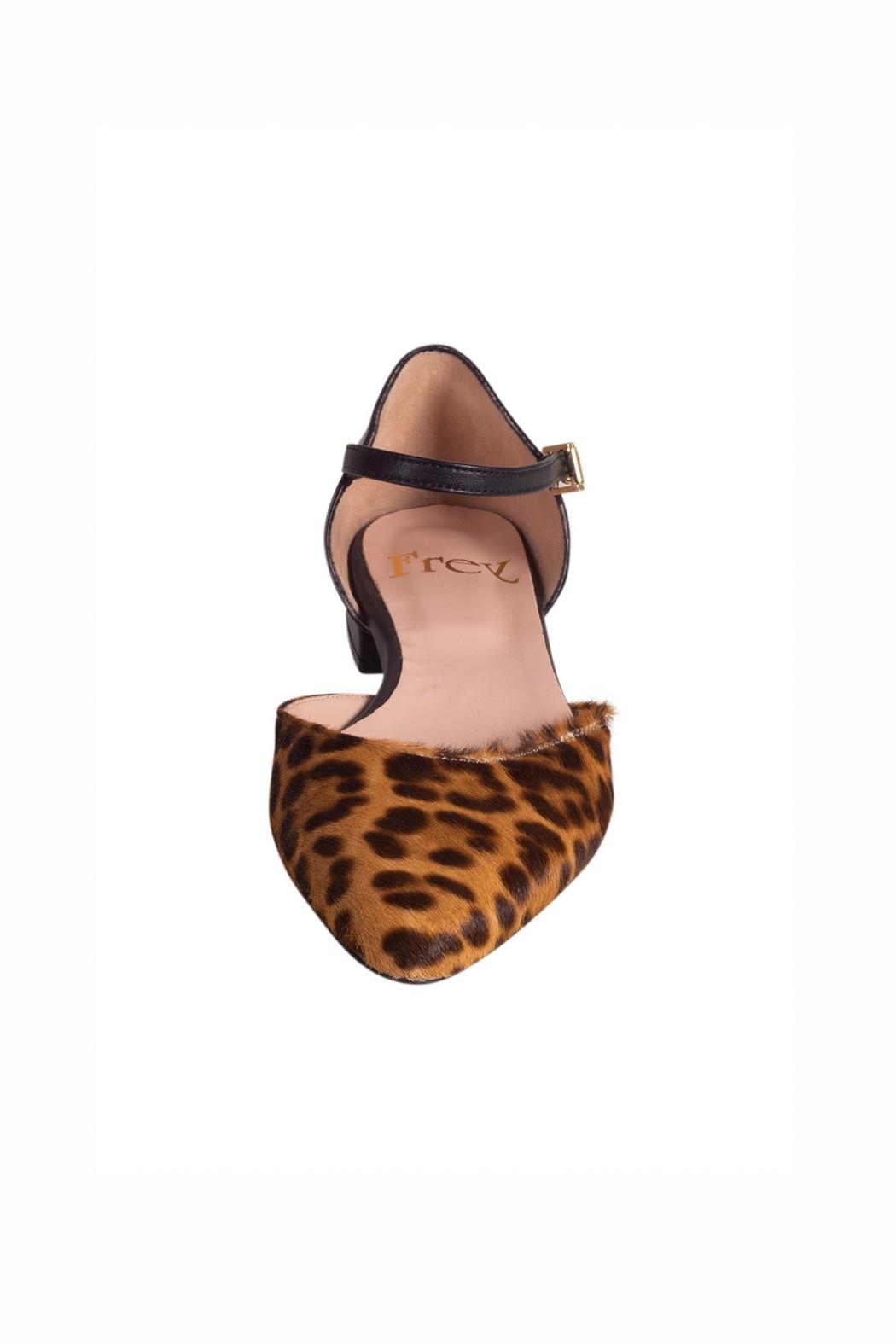 Pascucci Leopard Flat Mary-Jane - Side Cropped Image