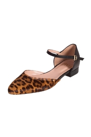 Pascucci Leopard Flat Mary-Jane - Front full body