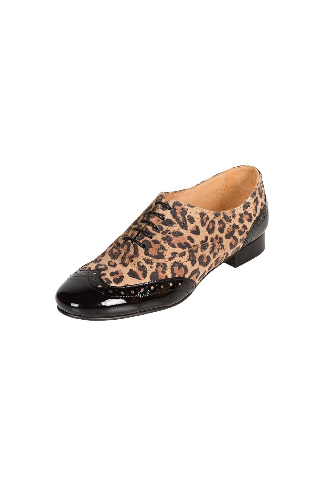 Pascucci Leopard Leather Brogue - Front Full Image