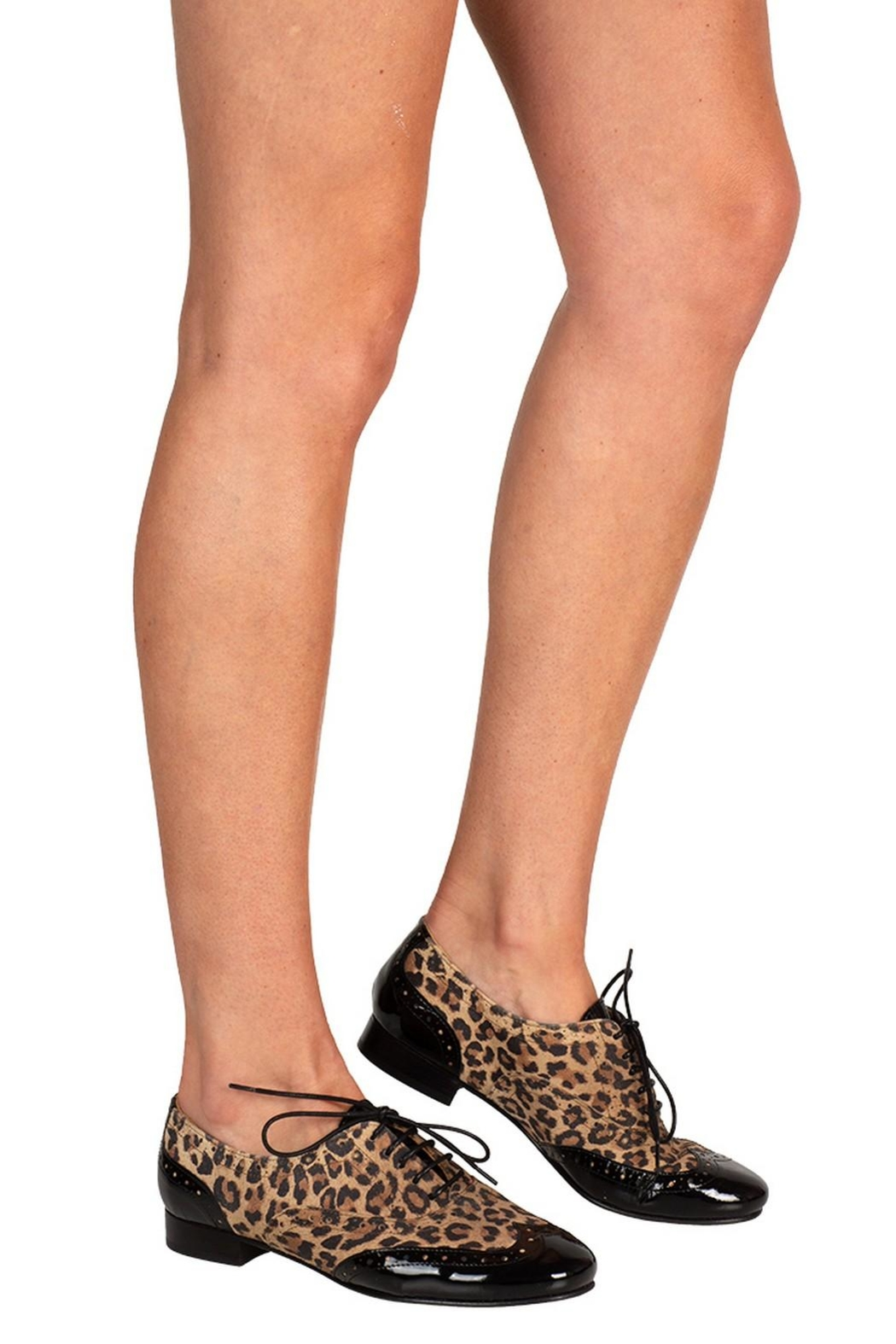 Pascucci Leopard Leather Brogue - Back Cropped Image