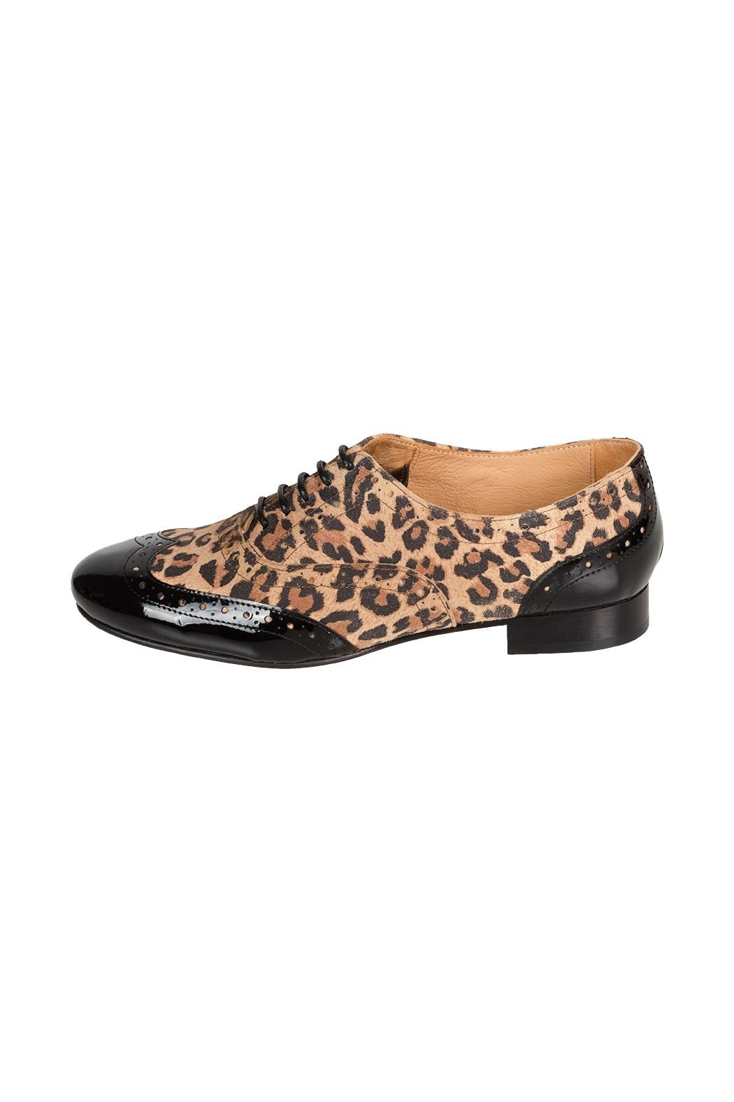 Pascucci Leopard Leather Brogue - Front Cropped Image