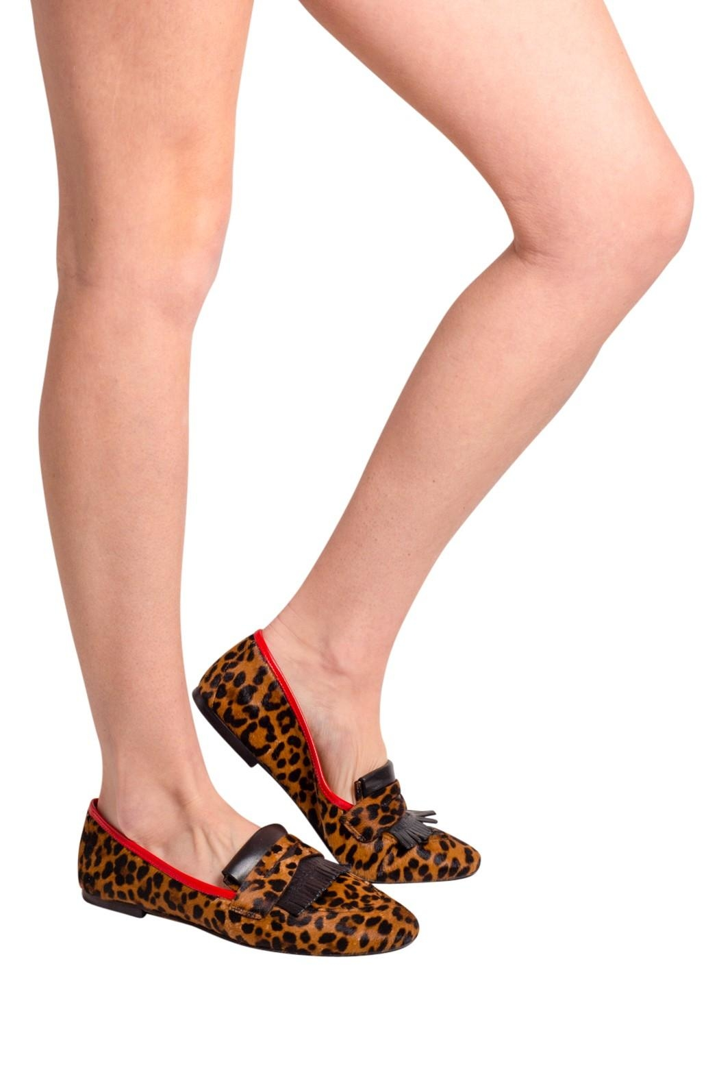 Pascucci Leopard-Print Penny Loafer - Back Cropped Image