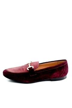 Pascucci Maroon Leather Loafer - Product List Image