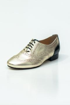 Pascucci Metallic Gold Brogue - Product List Image