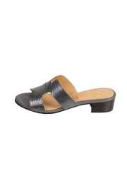 Pascucci Metallic-Grey Snakeskin H-Slides - Product Mini Image
