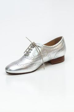 Pascucci Metallic Silver Brogue - Product List Image