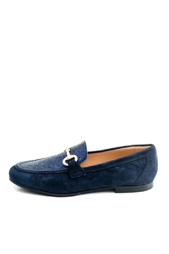 Pascucci Navy Leather Loafer - Product List Image
