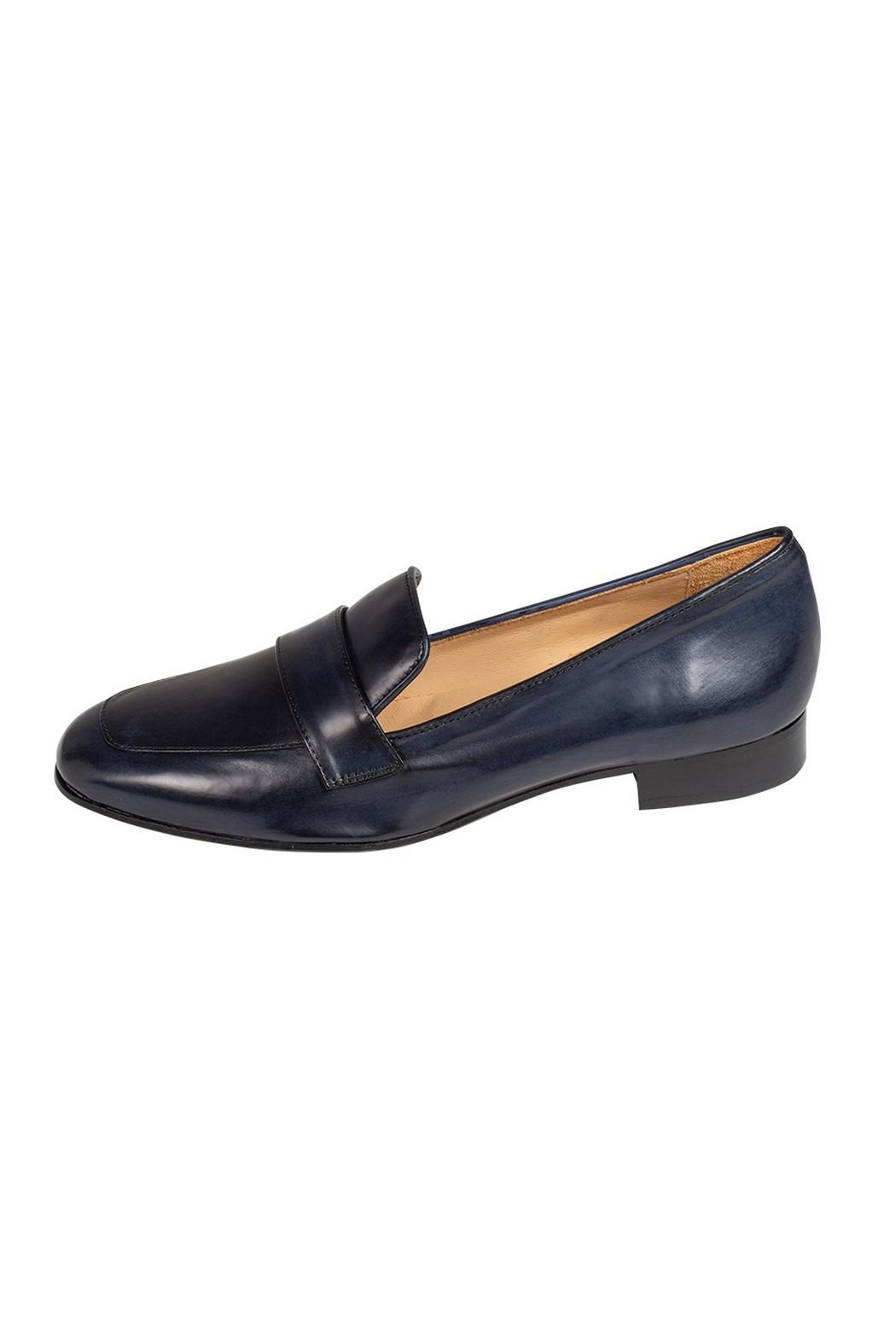 Pascucci Navy Leather Loafers - Main Image
