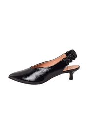 Manu Mari Navy Patent-Leather Slingbacks - Product Mini Image