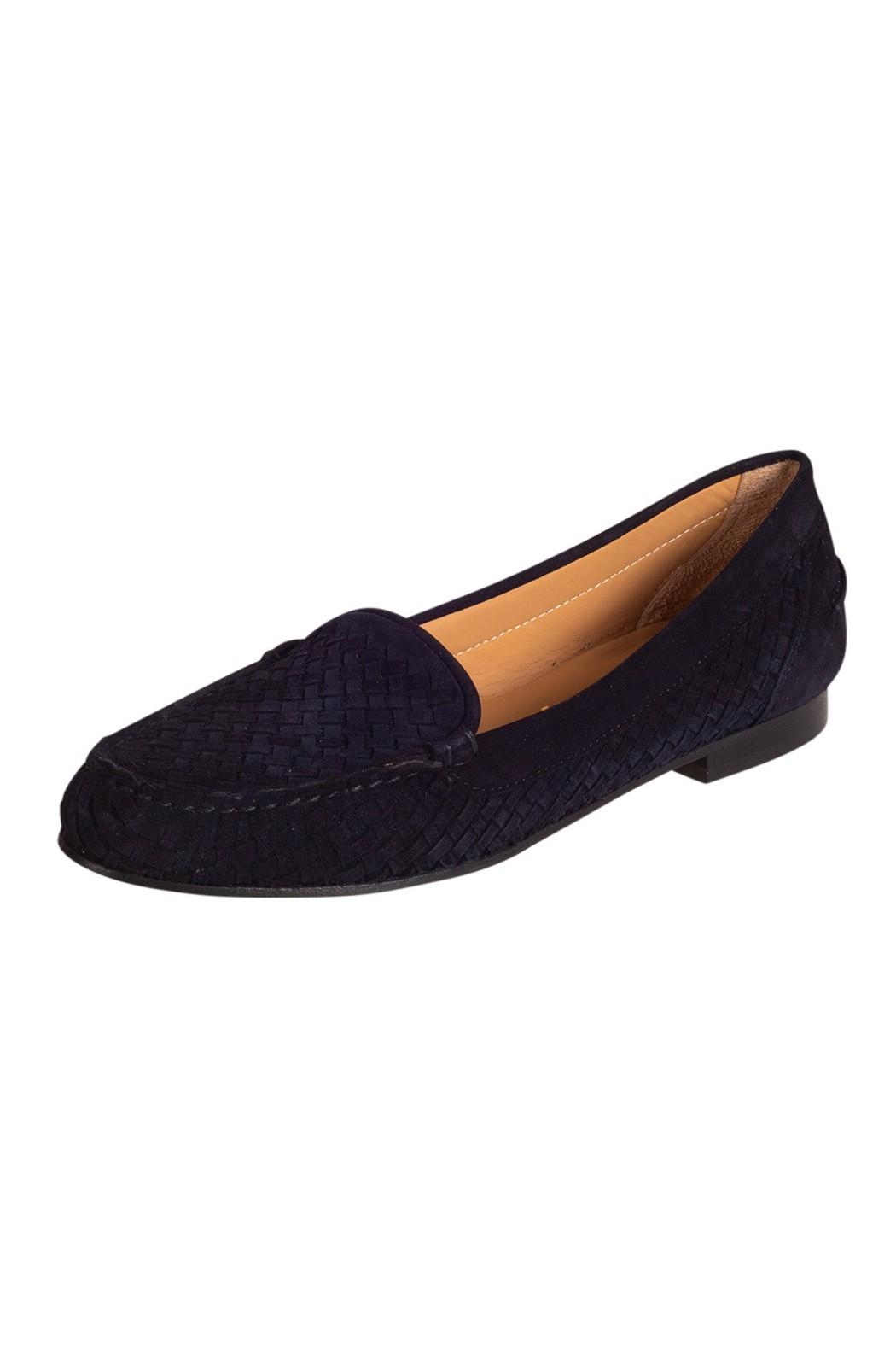 Pascucci Navy Suede Loafer - Front Full Image