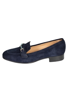 Pascucci Navy Suede Loafers - Product List Image