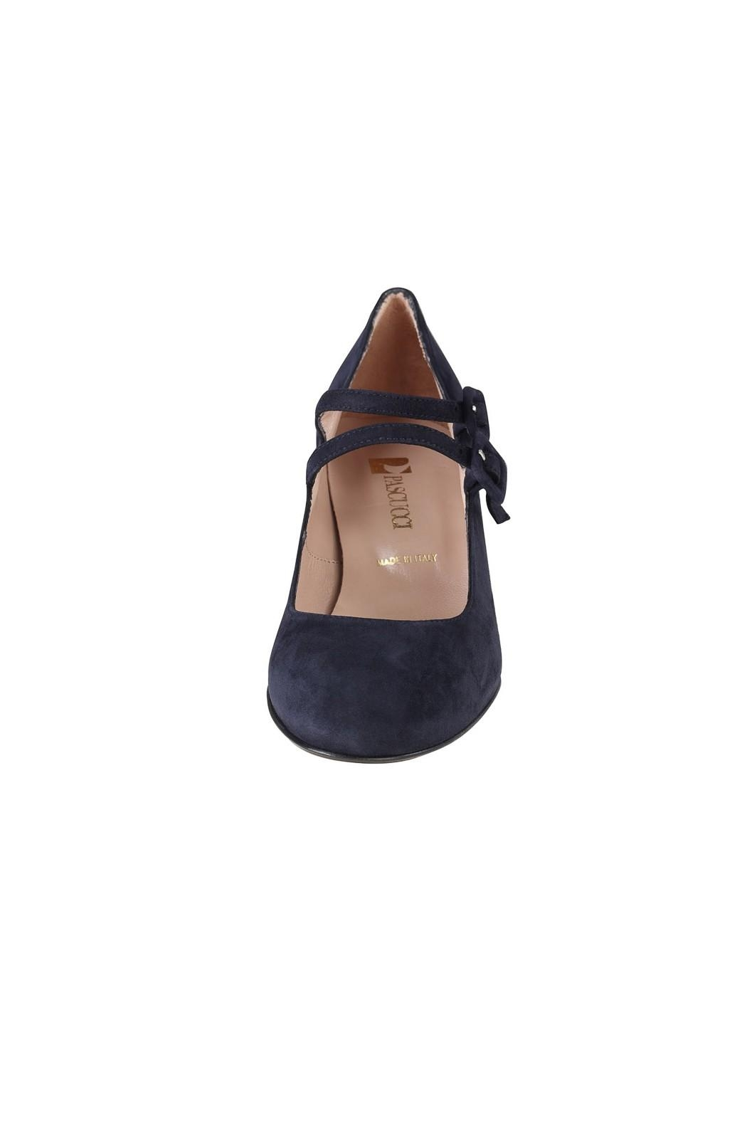 Pascucci Navy Suede Mary-Jane - Side Cropped Image
