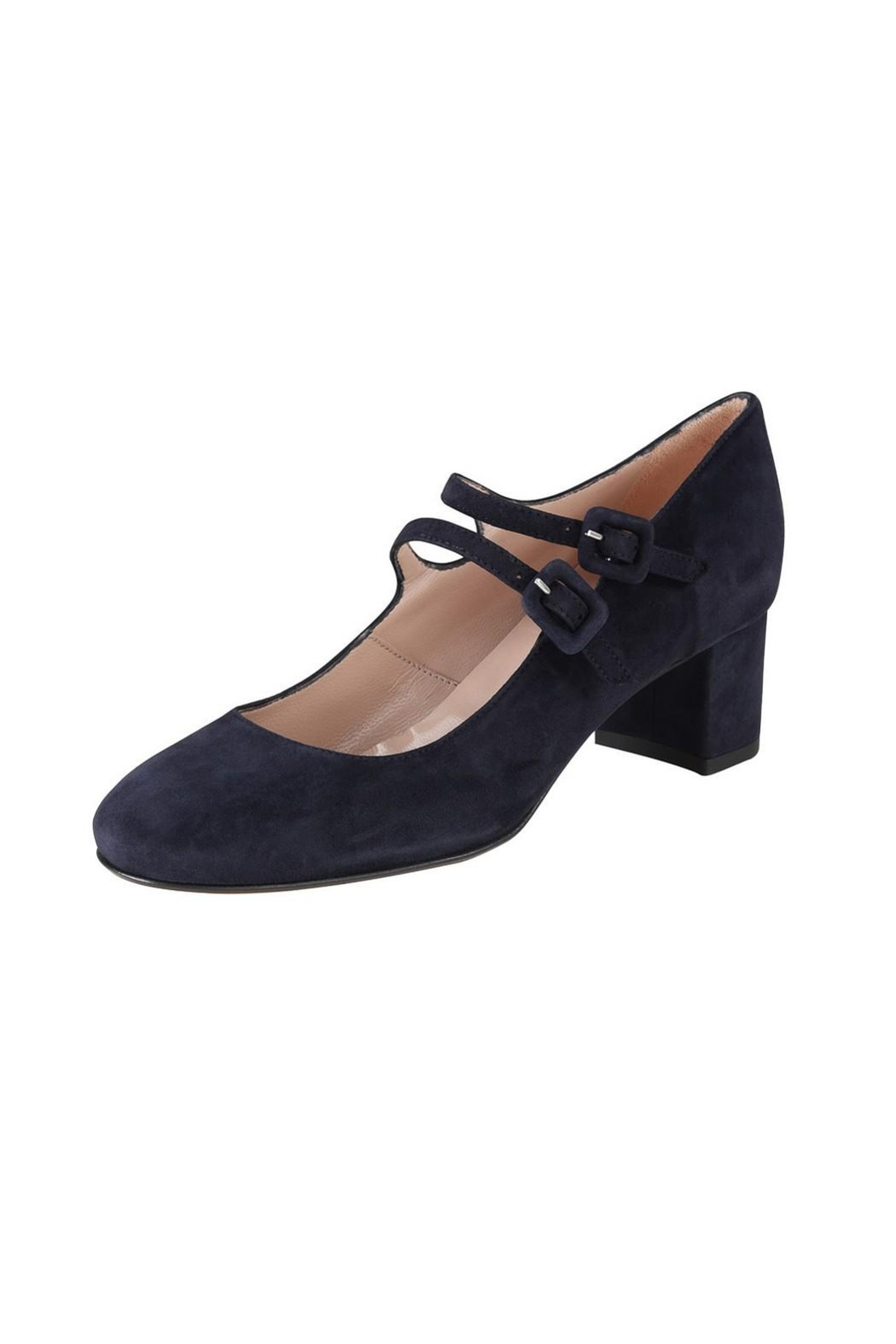 Pascucci Navy Suede Mary-Jane - Front Full Image