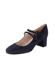 Pascucci Navy Suede Mary-Jane - Front full body
