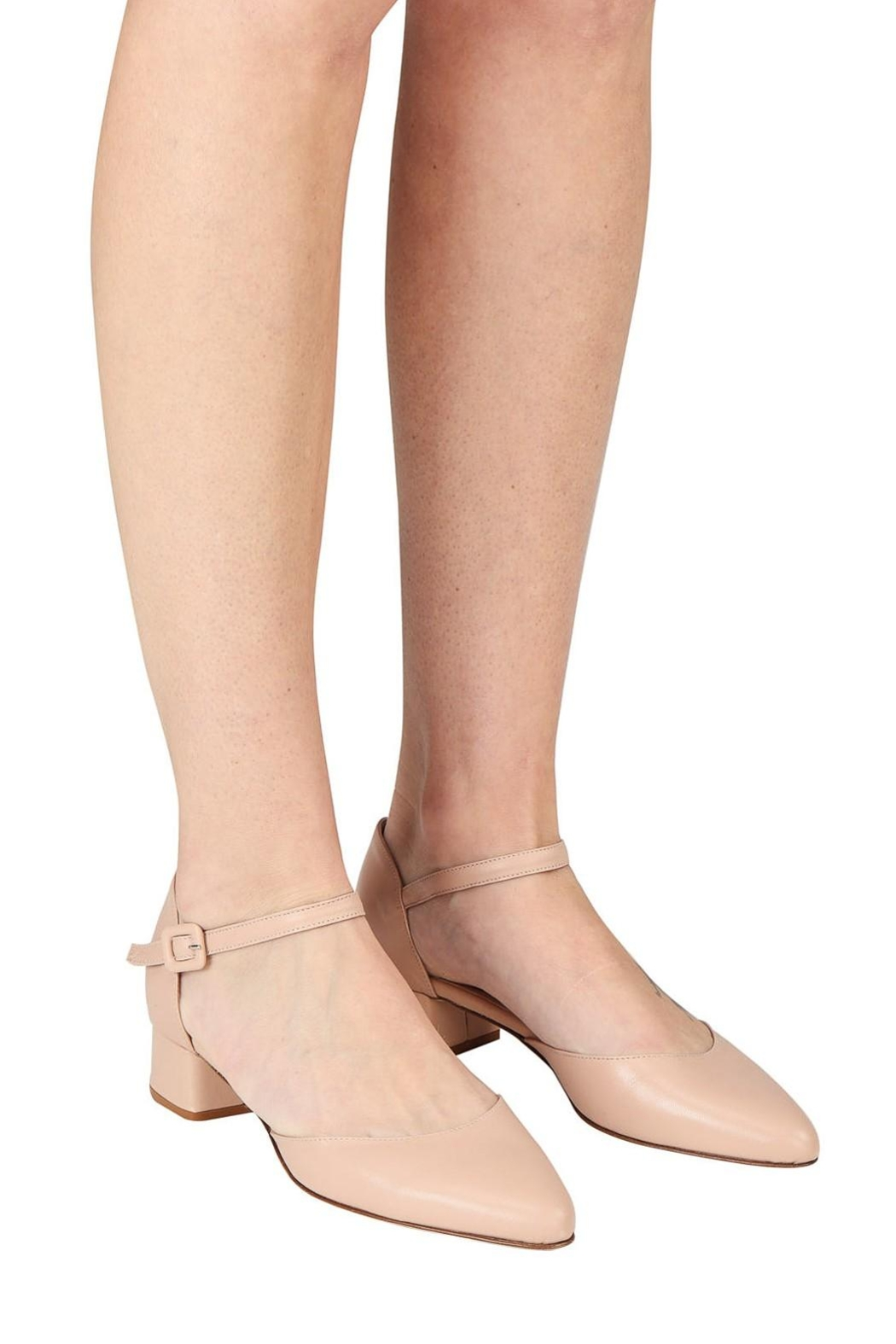Pascucci Nude Low-Heel Mary-Jane - Back Cropped Image