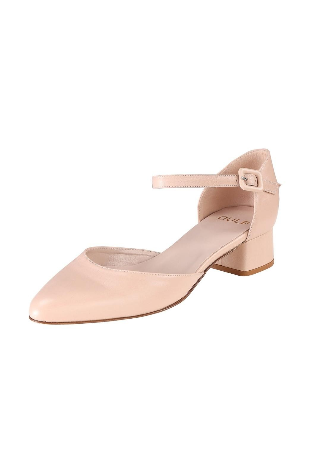 Pascucci Nude Low-Heel Mary-Jane - Front Full Image