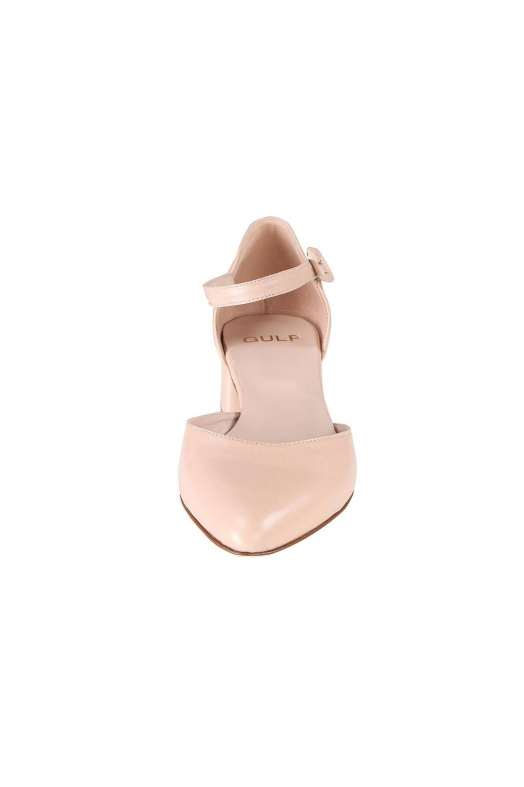 Pascucci Nude Low-Heel Mary-Jane - Side Cropped Image
