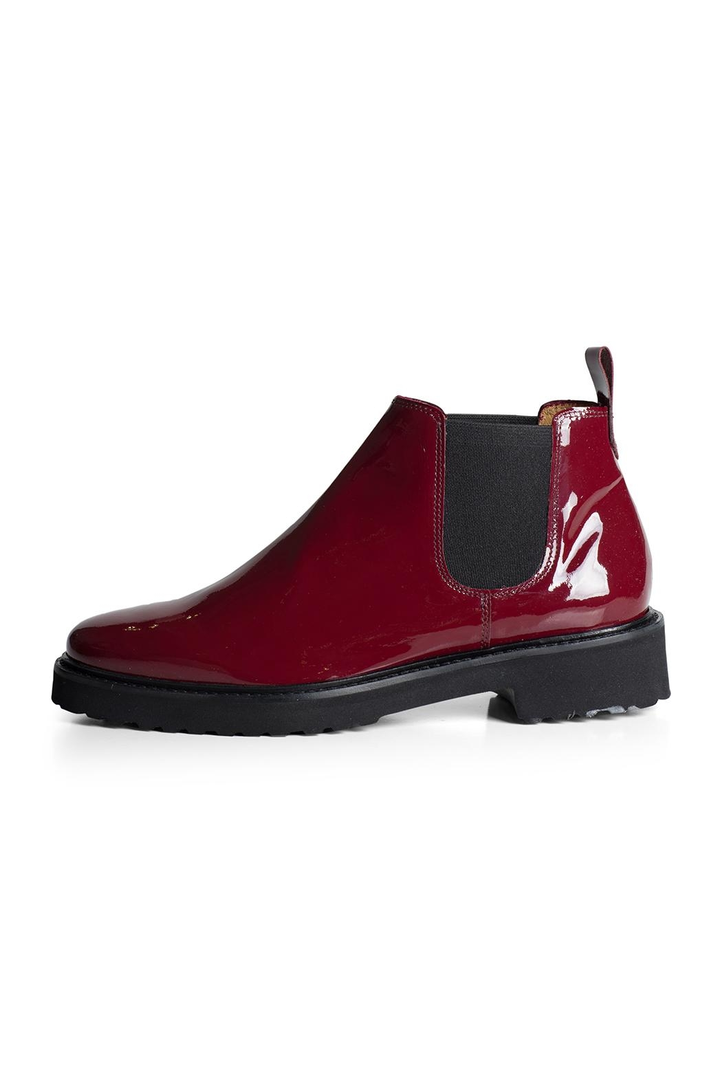 Pascucci Patent Burgundy Ankle-Boot - Front Full Image