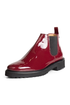 Shoptiques Product: Patent Burgundy Ankle-Boot