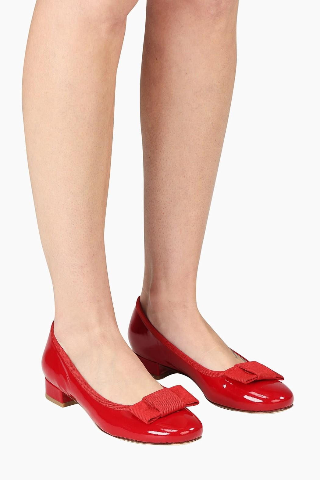 Pascucci Patent Heeled Ballet-Flats - Back Cropped Image