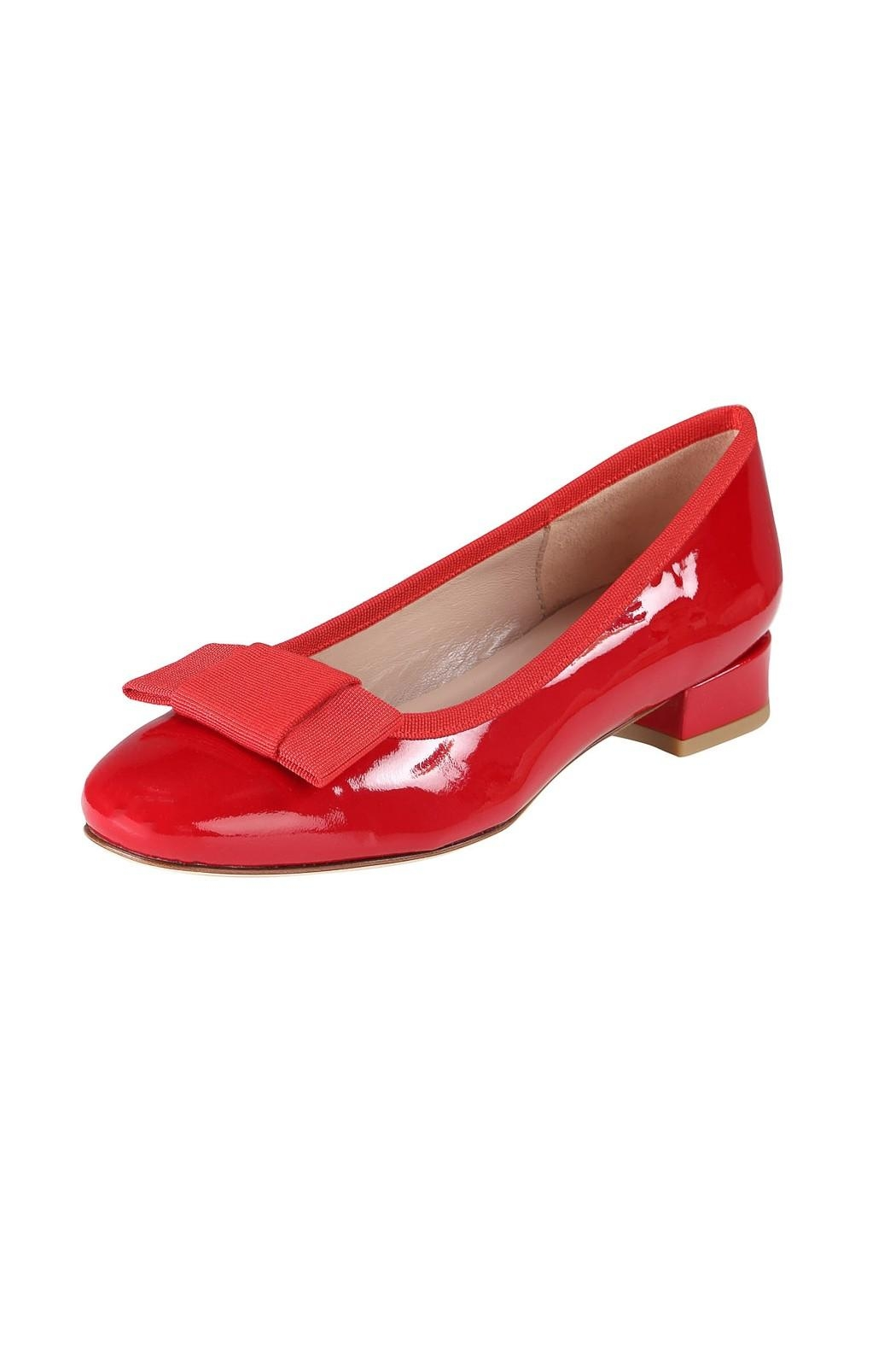Pascucci Patent Heeled Ballet-Flats - Front Full Image