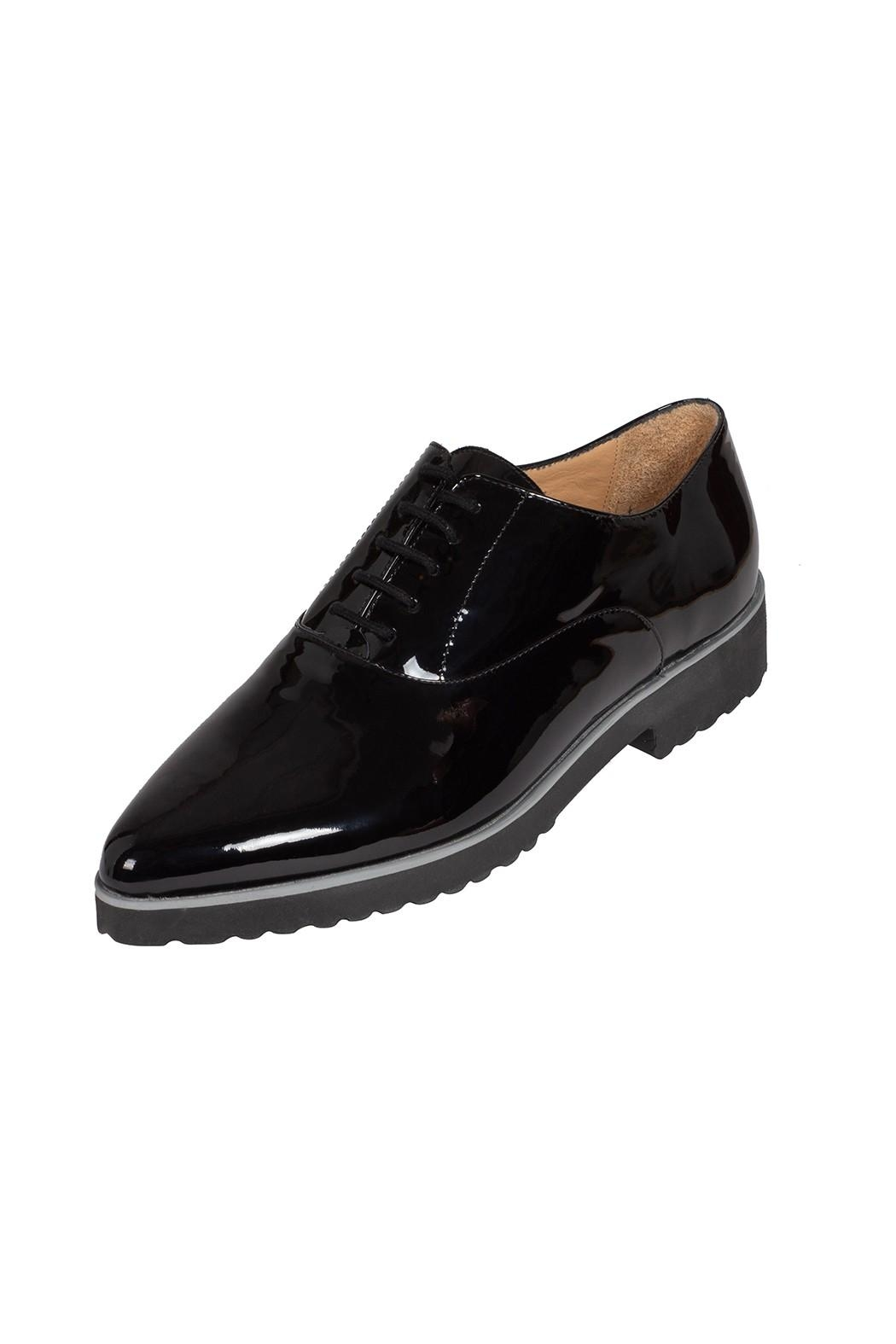 Pascucci Patent-Leather, Black, Brogues - Front Full Image