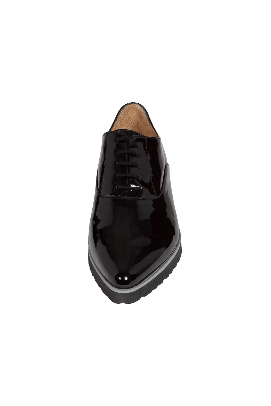 Pascucci Patent-Leather, Black, Brogues - Side Cropped Image