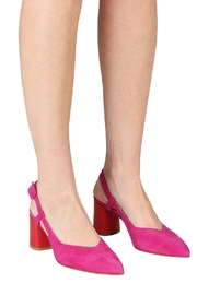 Pascucci Pink Red Slingback - Back cropped