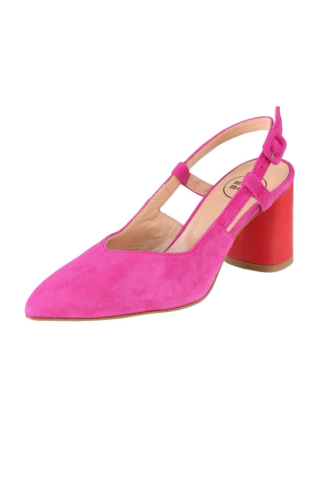 Pascucci Pink Red Slingback - Front Full Image