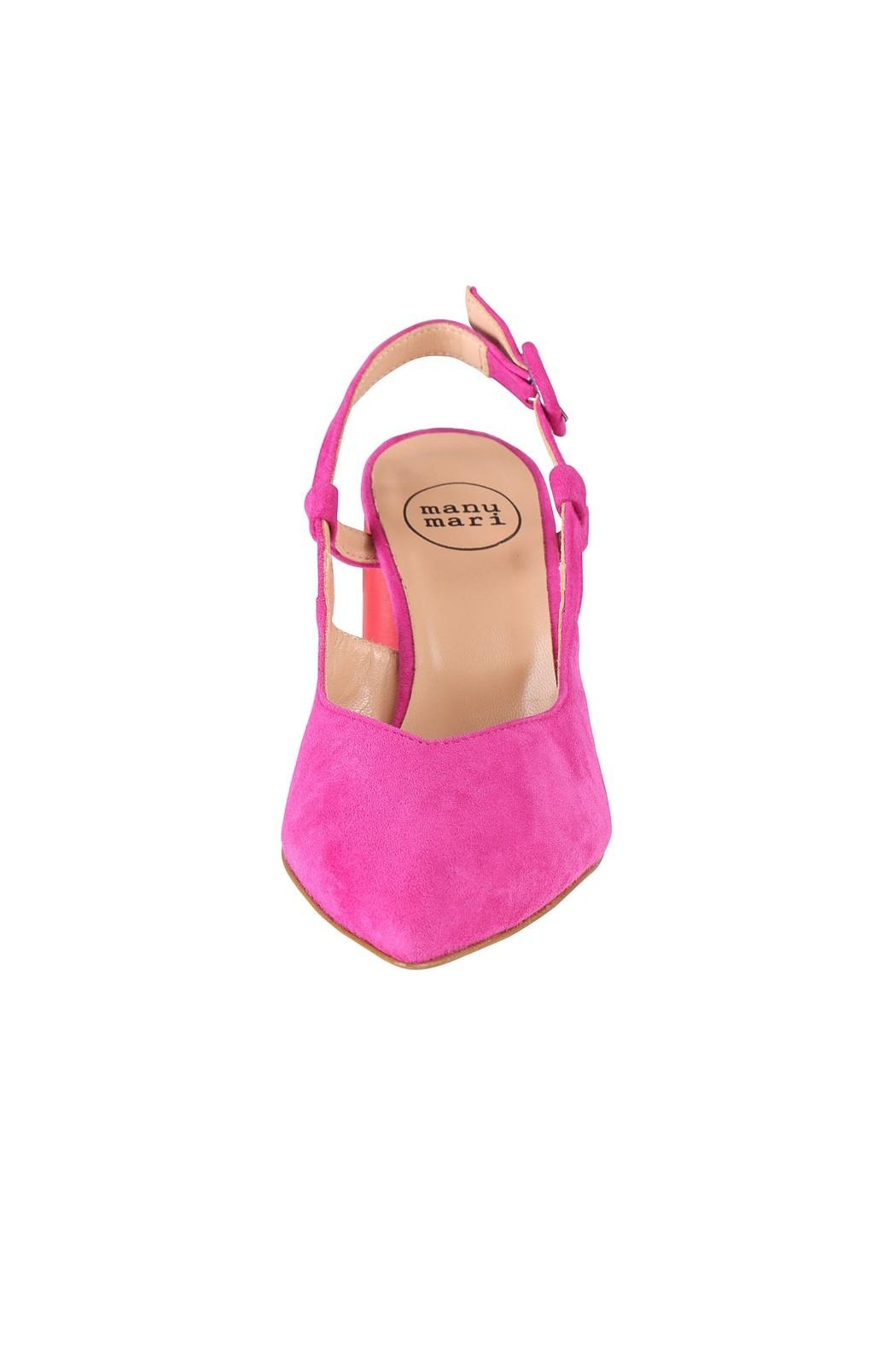Pascucci Pink Red Slingback - Side Cropped Image