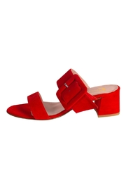 Pascucci Red Heeled Slide - Product Mini Image