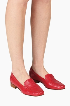 Pascucci Red Leather Loafer - Alternate List Image