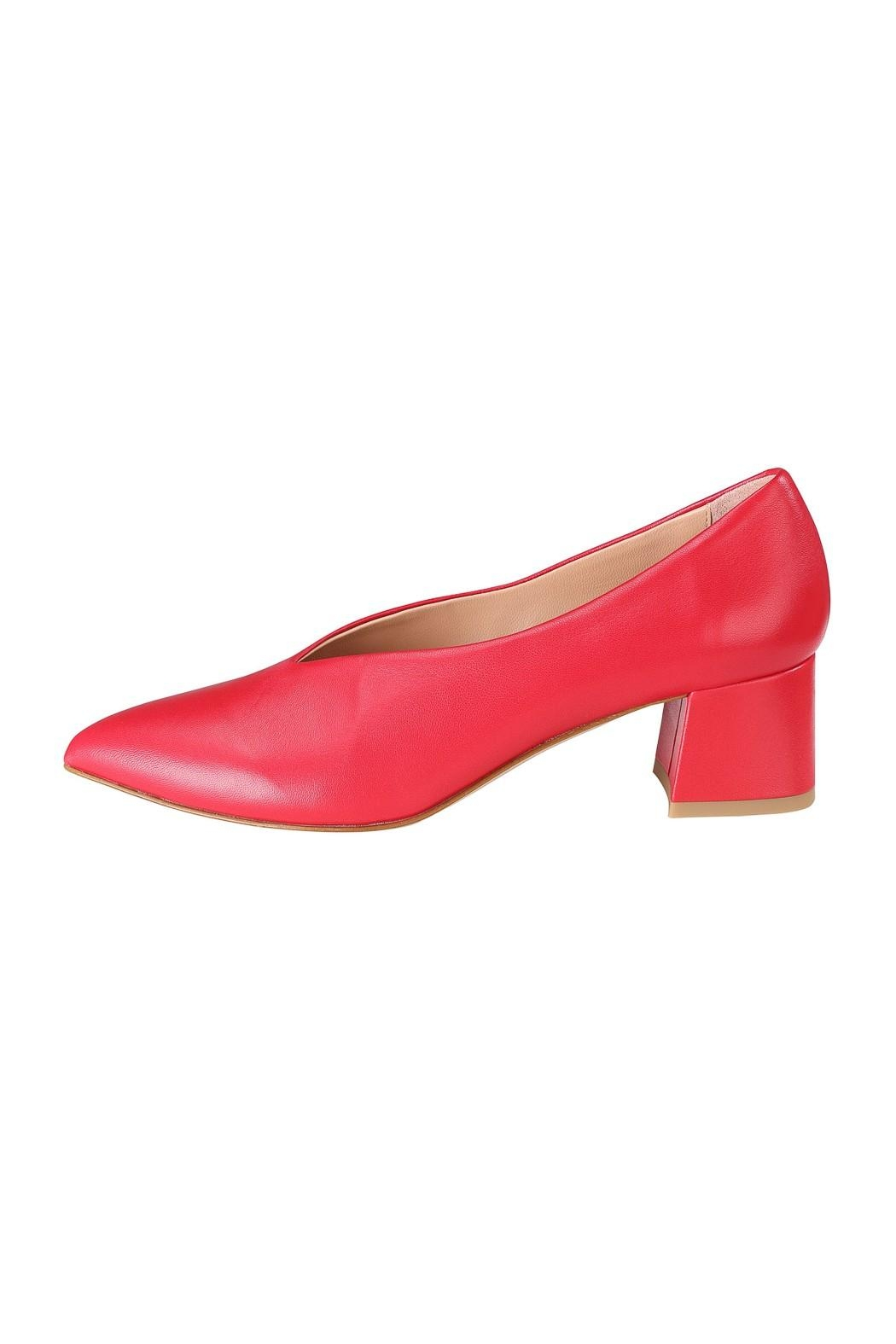 Pascucci Red Leather Pumps - Main Image