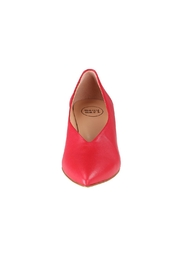 Pascucci Red Leather Pumps - Side cropped