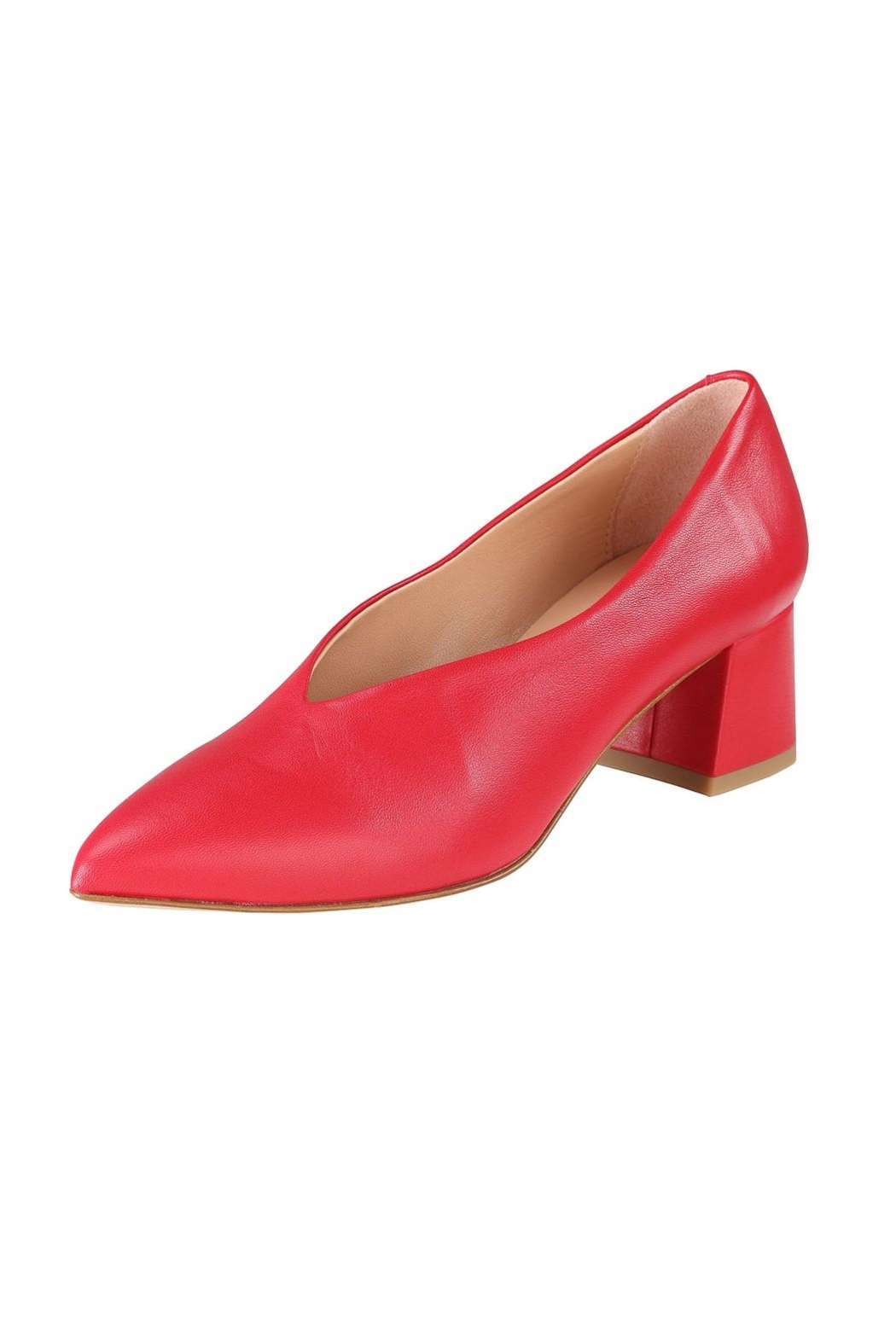 Pascucci Red Leather Pumps - Front Full Image