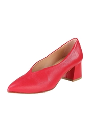 Pascucci Red Leather Pumps - Front full body