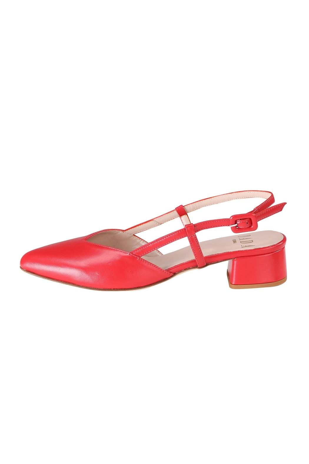 Pascucci Red Leather Slingback - Main Image