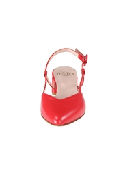 Pascucci Red Leather Slingback - Side cropped