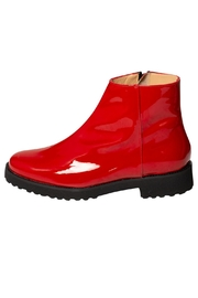 Pascucci Red Patent-Leather Ankle-Boot - Product Mini Image