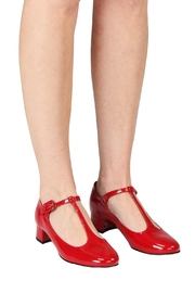 Pascucci Red Patent t-Bar - Back cropped