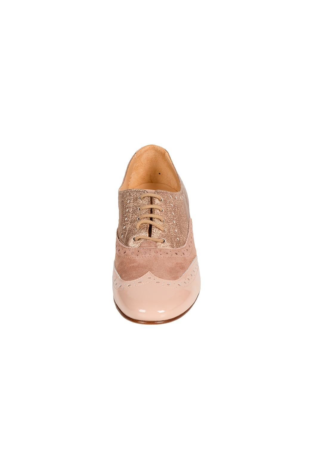 Pascucci Rosewood Leather Brogue - Side Cropped Image
