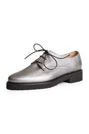 Pascucci Silver Leather Brogue - Product Mini Image