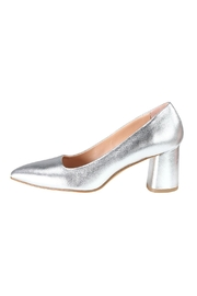 Pascucci Silver Leather Pumps - Product Mini Image
