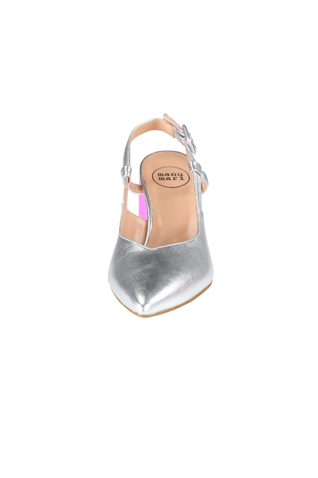 Pascucci Silver Pink Slingback - Side Cropped Image