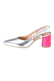 Pascucci Silver Pink Slingback - Front cropped